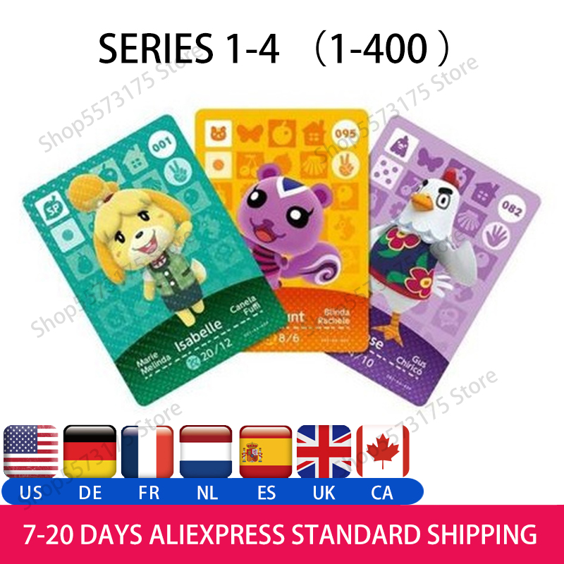 Animal Crossing Amiibo Card Animal Crossing Cards Series 1/2/3/4 Work For NS Games(001 To 400)Amiibo Nfc Card Choose By Yourself