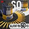 M & G 60 teile/los Glatte Öl Kugelschreiber Medium Punkt 0,7mm Blau Tinte Semi Gel Kugelschreiber Wert pack für Schule Büro Liefert