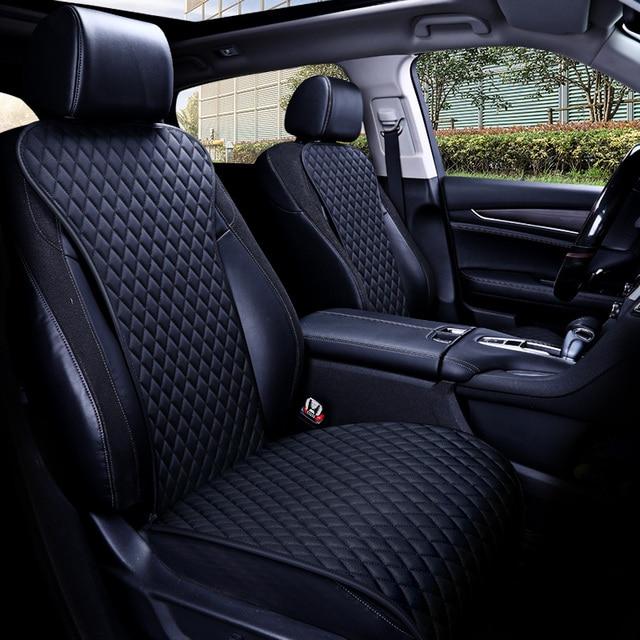 קל נקי לא מהלכי רכב מושב כריות, אוניברסלי עור מפוצל ללא שקופיות עמיד למים מושבי כיסוי מתאים לlada Granta E1 X36