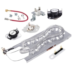 Dryer Replacement Parts Set 3387747 Dryer Heating elements and 279816 Thermostat Kit and 279973 3392519 Compatible Hot Melt Fuse