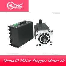 1 Nema 42 20N.m צעד מנוע + כונן ערכות 3 שלב 6.9A 110mm NEMA42 צעד CNC נתב 3M2280 10A + 110BYGH350D