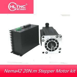 Image 1 - 1 Nema 42 20N.m Stepper Motor+Drive Kits 3Phase 6.9A 110mm NEMA42  Stepper Motor  for CNC Router 3M2280 10A+110BYGH350D