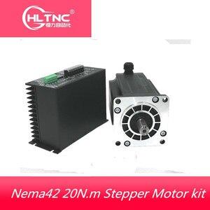 Image 1 - 1 Nema 42 20N.m step Motor + sürücü kitleri 3 fazlı 6.9A 110mm NEMA42 step Motor için CNC Router 3M2280 10A + 110BYGH350D