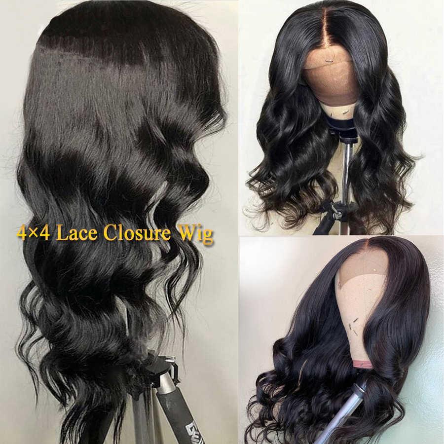 Zamknięcie koronki peruka ludzki włos peruki ciało fala naturalny kolor brązowy koronkowa peruka na przód dla czarnych kobiet peruwiański Dorisy włosy inne niż Remy