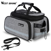 WEST BIKING Bike Waterproof Seat Pannier Pack Luggage Cycling Bag 10 25L Bicycle Pannier Bag Rear Rack Trunk Bag With Rain Cover