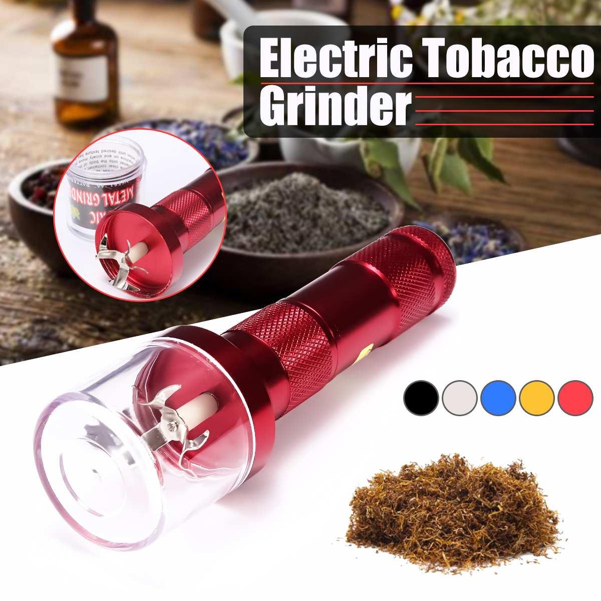 Electric Torch Shape Grinder Crusher Crank Leaf Tobacco Smoke Spice Herb Muller Machine Herb Tobacco Grinder