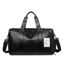 Men Leather Travel Gym Bags Independent Shoe Warehouse Waterproof Fitness Sport Portable Travelling Duffle Luggage Male Bag 2021