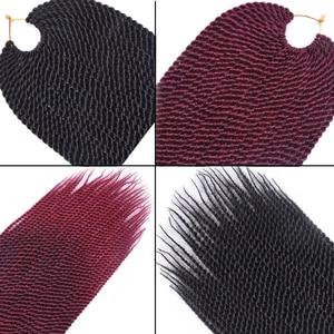 """Image 5 - טומו שיער 30 שורשים 14 """"16"""" 18 """"20"""" 22 """"קטן Senegalese טוויסט סרוג שיער צמות ombre סינטטי קולעת שיער הרחבות"""