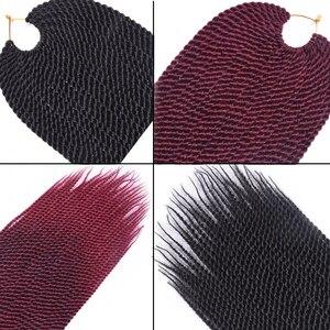 """Image 5 - TOMO Hair 30 radici 14 """"16"""" 18 """"20"""" 22 """"piccoli capelli intrecciati senegalesi trecce alluncinetto estensioni dei capelli intrecciate sintetiche Ombre"""
