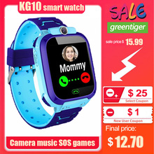 KG10 Muziek Slimme Horloge Kinderen Camera Telefoon Kind Horloge Kleur Touch Screen Sos Smart Baby Horloge Play Game Muziek Spelen horloge