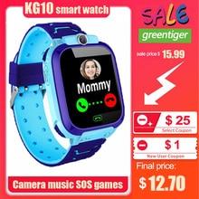 KG10 음악 스마트 시계 어린이 카메라 전화 어린이 시계 컬러 터치 스크린 SOS 스마트 베이비 시계 놀이 게임 음악 놀이 시계