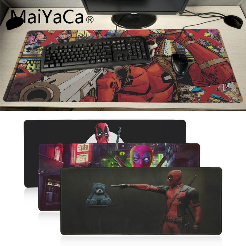 MaiYaCa Deadpool Gamer Speed Rubber Mousepad Big Promotion Russia Gaming Mouse Pad Xl Keyboard Laptop PC Notebook Desk Pad
