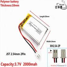 Бесплатная доставка, Маленькая детская модель «пудинг», устройство для обычной зарядки 103450, литий-полимерный аккумулятор 3,7 в, батареи 2000 мА...