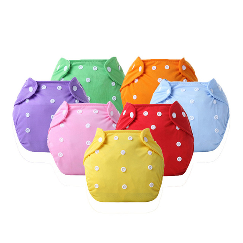 Eco-Friendly Cloth Diaper Adjustable Reusable Nappy Baby Boys Girls Soft Covers Infant Washable Nappies For 0-2 Years 3-15 Kg