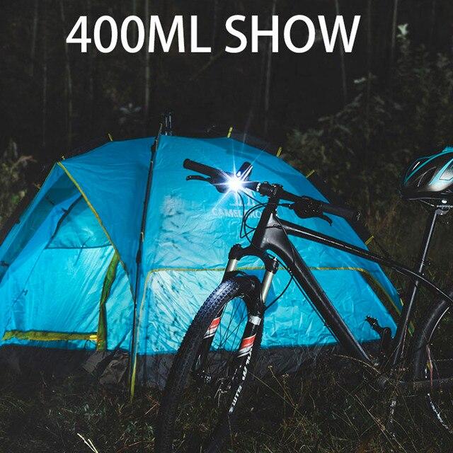 Rockbros farol para bicicleta de 400lm, 800lm, usb, recarregável, luz dianteira, à prova d' água, energia, ciclismo, mtb, lanterna para bicicleta 4