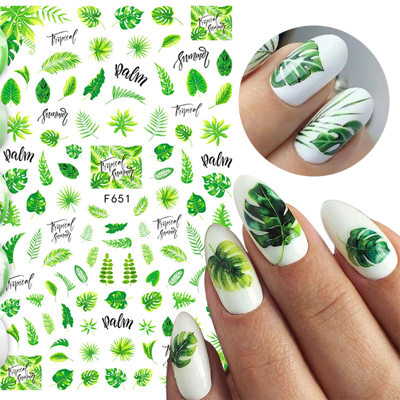 1 Sheet Spring 3D Nail Sticker Flower Leaves Slider Transfer Nail Stickers Nail Art DIY Transfer Sticker Decals Decoration