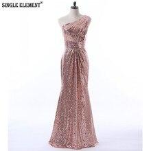 SINGLE ELEMENT Hot Sale One Shoulder Sequins Bridesmaid Dresses