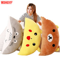 1pc 95cm*45cm Cartoon Pillow Stuffed Soft Kawaii Totoro Bear Plush Pillow Cushions Birthday Gifts Kids Girls Gifts Decoration