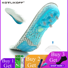 KOTLIKOFF Insoles For Shoes Super Shock-Absorbant Spring Sports Insole Foot Pain Relieve Shoe Insoles For Men and Women Shoe Pad