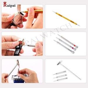 Image 5 - RUIPAI 147pcs Watch Repair tool Kit Watch Link Pin Remover Case Opener Spring Bar Remover Horlogemaker Gereedschap