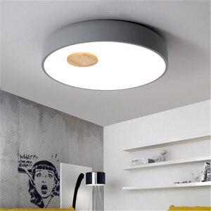 Image 5 - Plafonnier en bois et acrylique au Style nordique, LED, luminaire créatif dintérieur, luminaire de plafond, idéal pour une chambre à coucher ou une cuisine