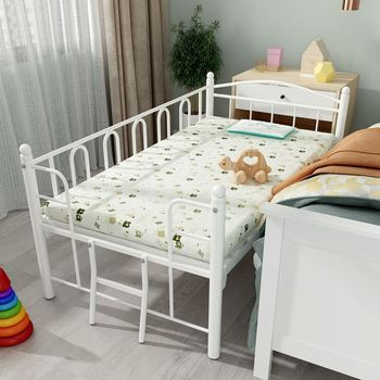 Wrought Iron Baby Cribs with Guardrail Boy and Girl Princess European Style Splicing Widened Metal Bed Infant Baby Bed for Kid solid wood children beds with guardrail small infant bedside single widening and splicing kids bed