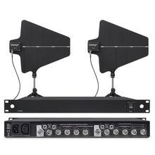 Bolymic sistema de distribuição de antena 470 950mhz, microfone amplificador para o melhor microfone sem fio para a igreja