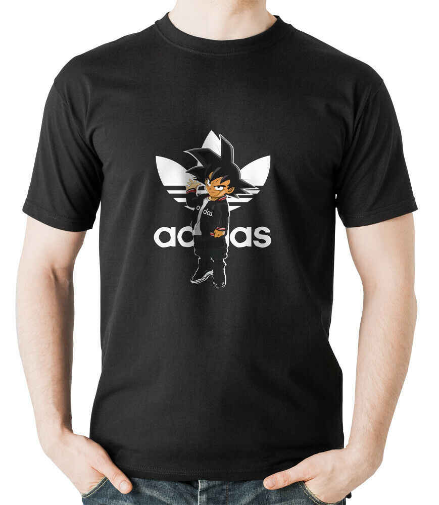 Sayan Addidas Goku Dragon Ball DBZ мужская футболка мужская женская унисекс модная футболка доставка