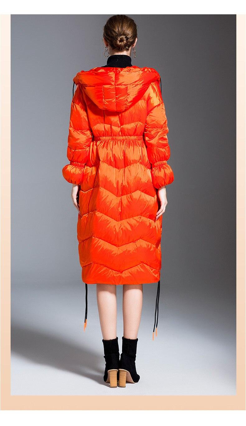 Women's Down Jacket New 2020 European 95% Duck Jacket Female Long Hooded Parkas Winter Warm Windbreaker Overcoat Chaqueta Mujer