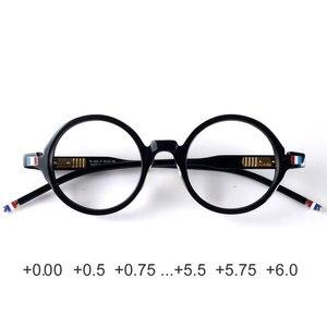 Image 1 - Round designer reading glasses men women anti reflective anti radiation acetate black