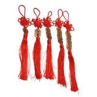 Monedas de cobre de 1/2/3/5/6 nudo chino Feng Shui riqueza éxito amuleto de la suerte decoración del coche del hogar monedas de cobre antiguo rojo