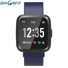 Bingofit Smart Bracelet Wristband Full Touch Screen Heart Rate Sleep Fitness Tracker Sport Pedometer Bracelets Mens Watch