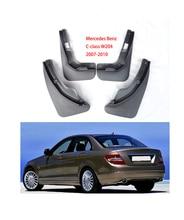 цена на for Mercedes Benz C Class C-Class W204 2007~2010 Fender Mud Guard Flaps Mudguards Accessories Benz C180 C200 C300 Mudguards