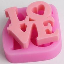 Силиконовые формы для мыла с надписью «love», многофункциональные формы для свечей, формы для выпечки конфет, тортов, поделок ручной работы