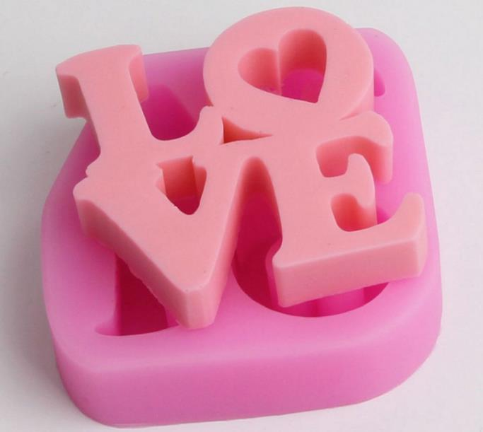 Love Word Silicone Soap Mold Multifunction Candle Molds Cake Candy Baking Mould DIY Handmade Craft
