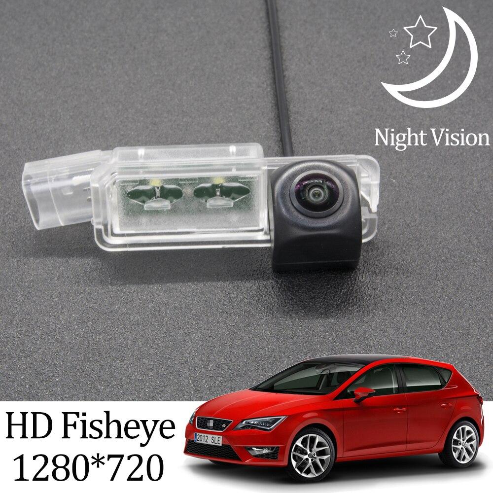 Owtosin HD 1280*720 рыбий глаз камера заднего вида для SEAT LEON MK3 5F 2012-2020 автомобильные аксессуары для парковки заднего хода ЖК-монитор
