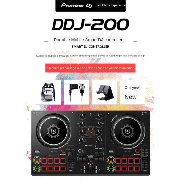 DDJ-200 Disk Recorder DJ Controller Support IPhone Android Mobile Phone Tablet