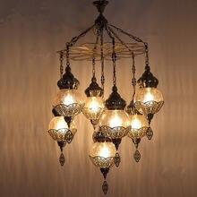Турецкая Этническая Подвесная лампа на заказ романтическая для