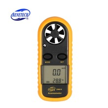 BENETECH GM816 Цифровой Анемометр-термометр скорость ветра воздуха скорость воздуха датчик температуры воздуха ветромер с ЖК-подсветкой Горячая