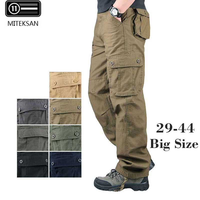 MITEKSAN 2020 Men Cargo Pants Hip Hop Joggers Casual Military Pocket Outdoor Streetwear Trousers Pantalones Hombre Sweatpants