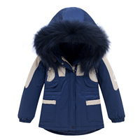 Children winter Outerwear for Boy Warm Coat Kids Clothes Windproof Thicken Boy White Duck Down Jackets Russian Winter Kids Coat