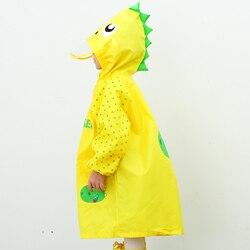 Ao ar livre bonito dinossauro poliéster crianças capa de chuva impermeável crianças poncho impermeável meninos meninas jaqueta de chuva 60y88