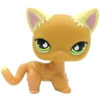 Лпс стоячки кошки Игрушки для кошек lps, редкие подставки, маленькие короткие волосы, котенок, розовый#2291, серый#5, черный#994,, коллекция фигурок для питомцев - Цвет: 525