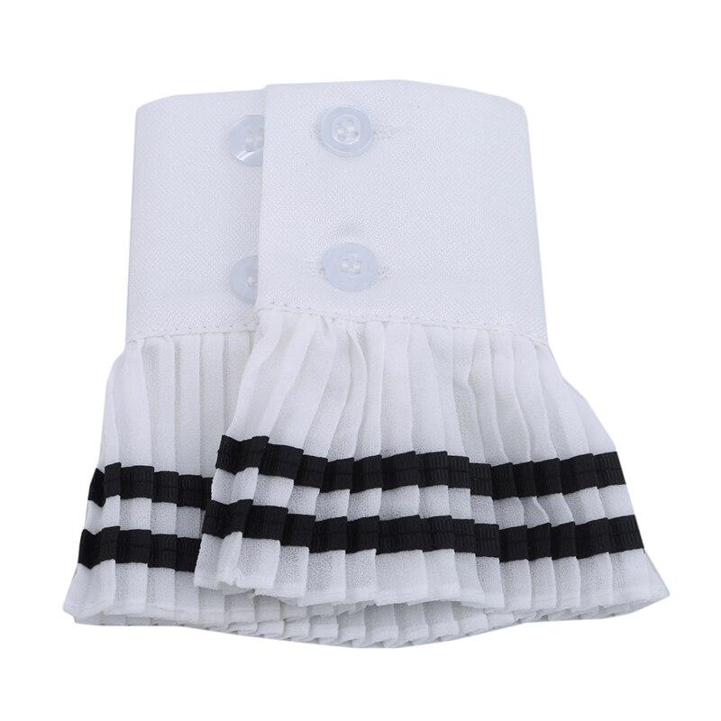2Pieces /1pair Korean Lace Vavy Wind Folding Fake Sleeves Women's Sweet Wild Sweater Decorative Cuff Fashion Women's Fake Cuff