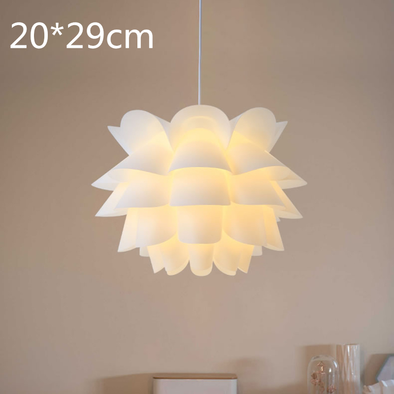 DIY Lotus Flower Lampshade  Flower Lampshade Pendant Lamp Shade Light Cover For Ceiling Pendant Office Hotel Bar Home Decor