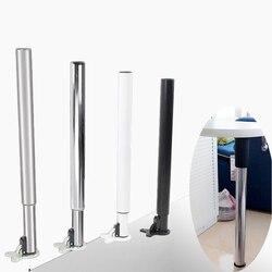 Pata de la mesa plegable, barra de elevación ajustable de acero, Banco de pie, Pin Eyector, soporte de escritorio de trabajo, pies telescópicos RV 71-110cm, ahorra espacio