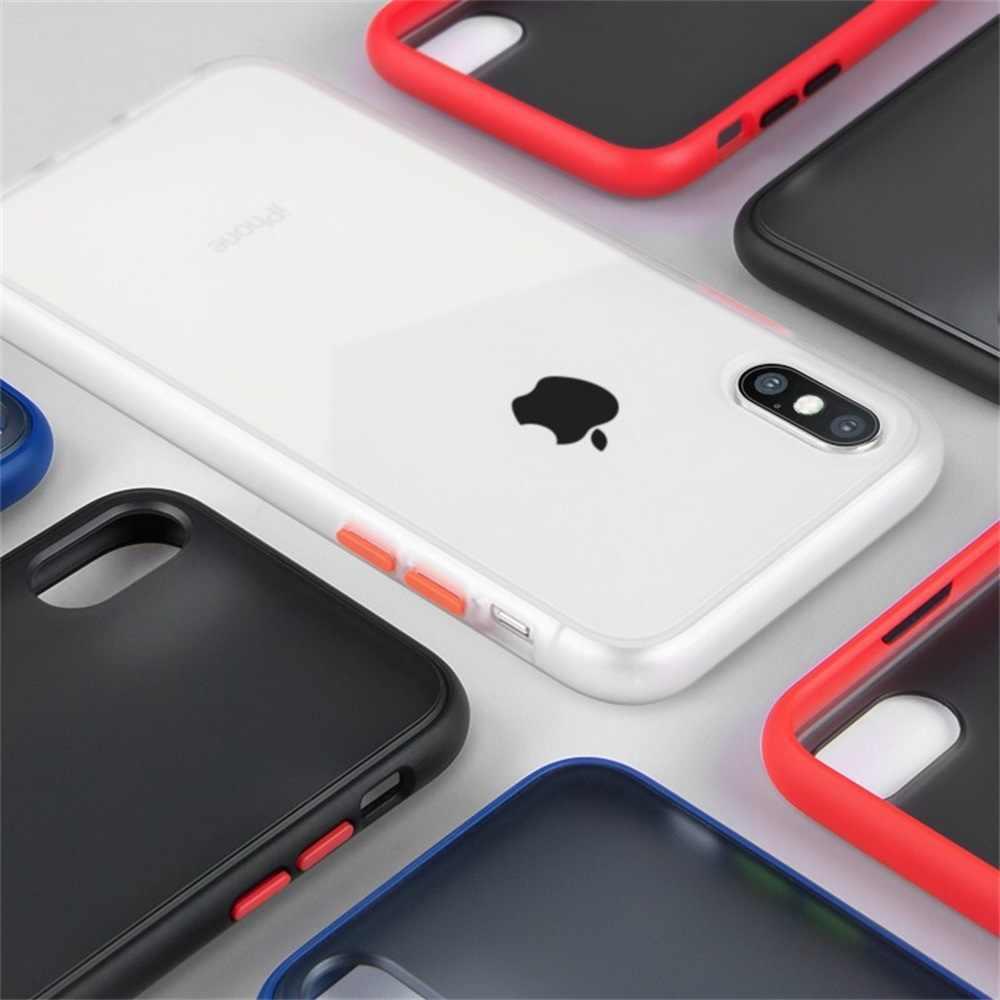صدمات شفافة الهجين سيليكون الهاتف حقيبة لهاتف أي فون X XS XR ماكس 8 7 6 6S زائد 11 برو 2019 العلامة التجارية واضح لينة الغلاف الخلفي