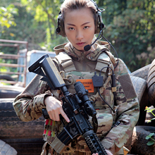 Pants Combat-Shirt Training-Sets Sports-Suits Women Autumn Spring Hooded Frog CS Army