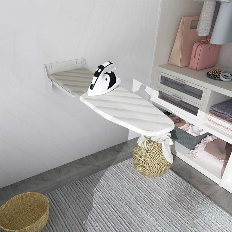 Tenture murale pliante type planche à repasser tampon rotation de 180 degrés forme cachée planche à repasser anti-brûlure housse en tissu,