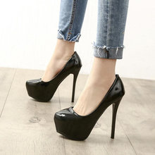 Туфли лодочки женские на платформе Шпилька 14 см пикантная обувь